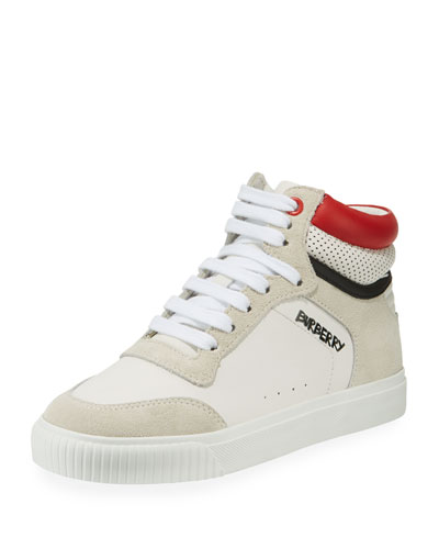 Mini Reeth Suede & Leather High-Top Sneaker, Toddler/Kids