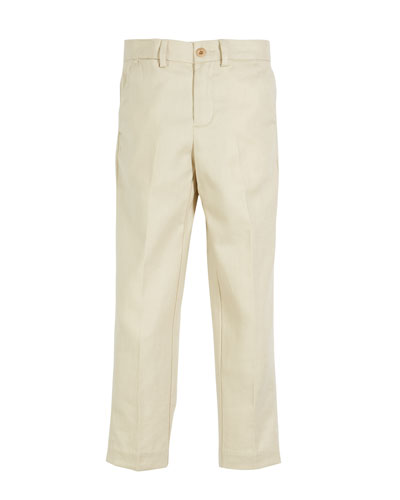 Twill Skinny Pants, Size 5-7