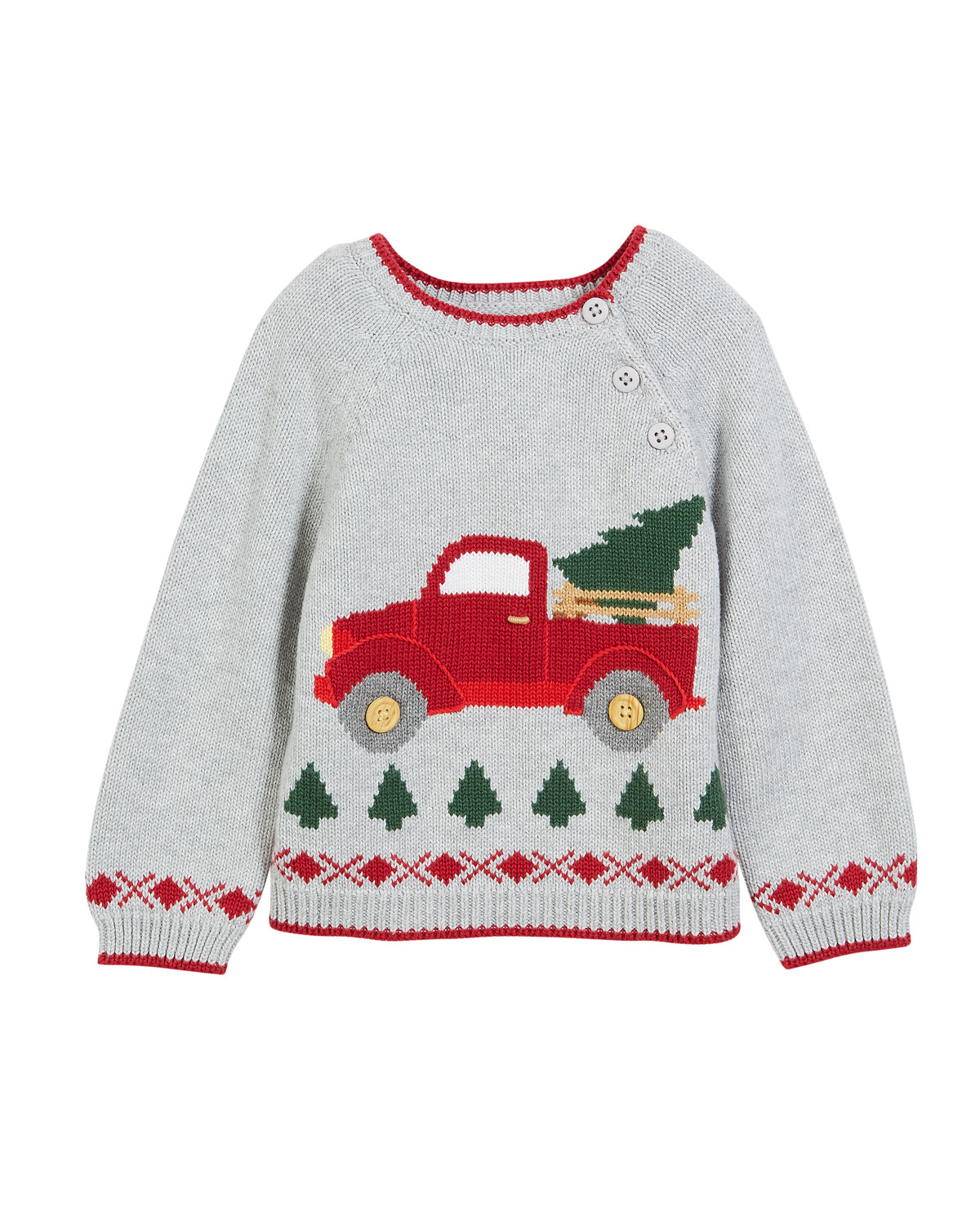 Zubels Kids\' Antique Truck Knit Christmas Sweater, Size 12M-7 ...