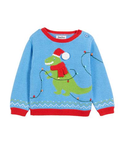 Kids' T-Rex Christmas Sweater, Size 12M-5
