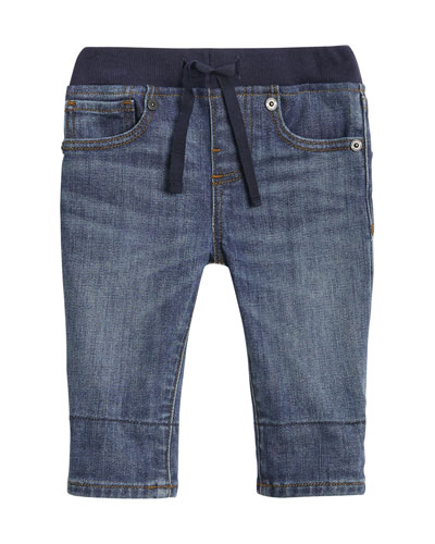 Pull-On Drawstring Jeans, Size 6M-2Y