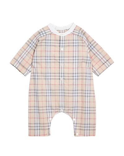 Colton Check Shortall  Size 1-18 Months
