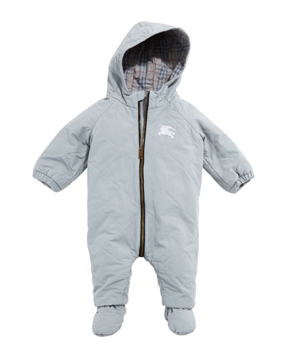 Skylar Diamond Quilted Hooded Coverall Snowsuit, Size 3-18 Months