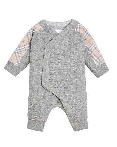Dalton Check-Trim Quilted Coverall  Size 3-18 Months