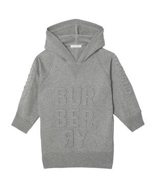 Burberry Aurora Raised Logo Sweatshirt Dress e1a41385c152