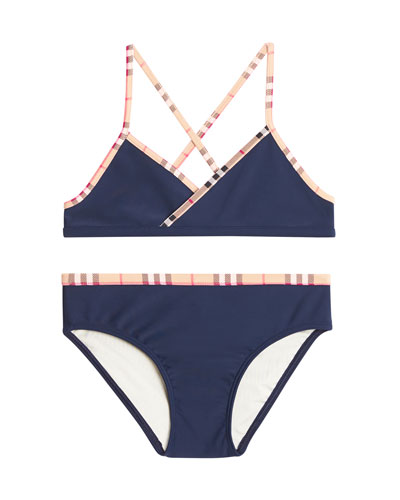Crosby Cross-Back Two-Piece Swimsuit, Size 3-14