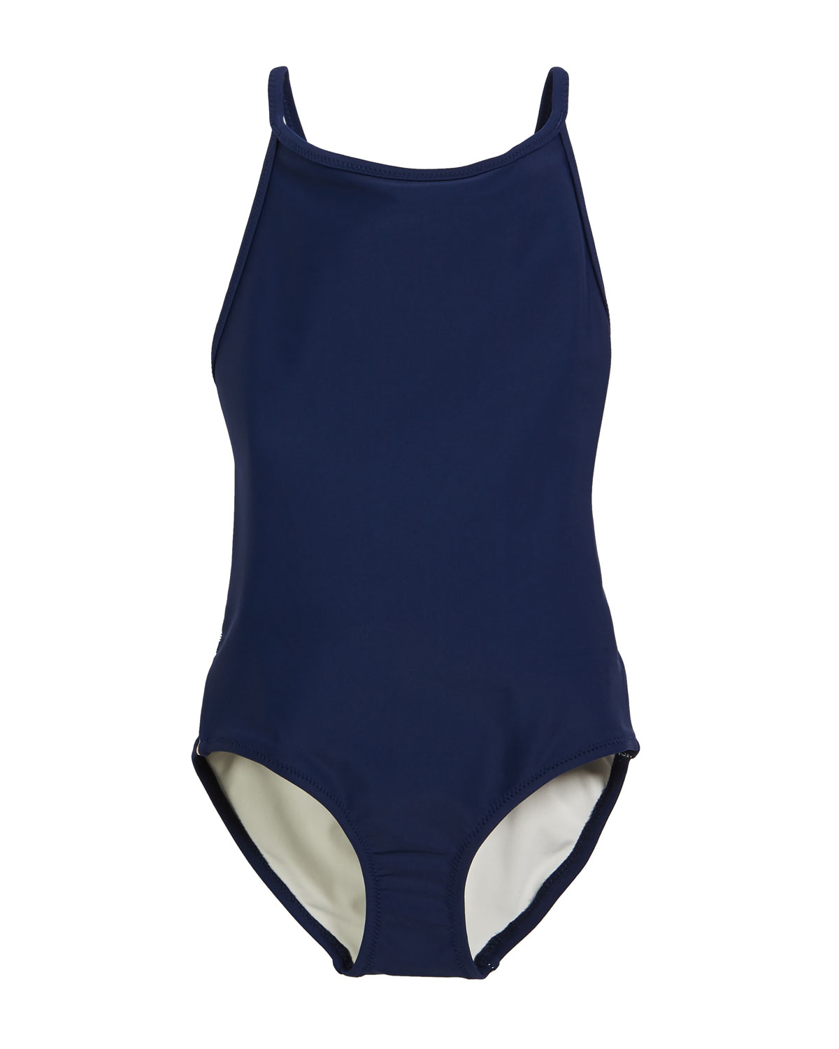 9a5a3560042 Burberry Sandine Check-Trim One-Piece Swimsuit, Size 3-14 | Neiman ...
