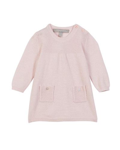 Rib Knit Jersey Long-Sleeve Dress  Size 3-18 Months