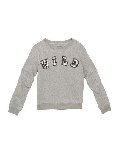 Mabel Beaded Wild Sweatshirt, Size S-XL