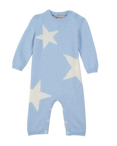 Stars Knit Coverall  Size 3-12 Months