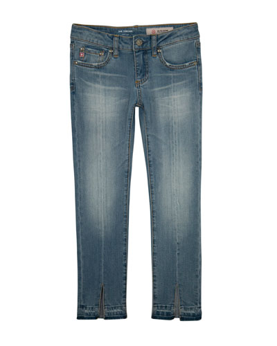 Teegan Split-Hem Cropped Skinny Jeans, Size 7-14
