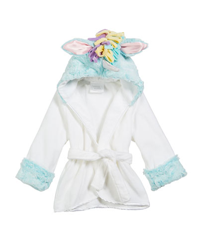 Baby Girls' Hooded Unicorn Robe