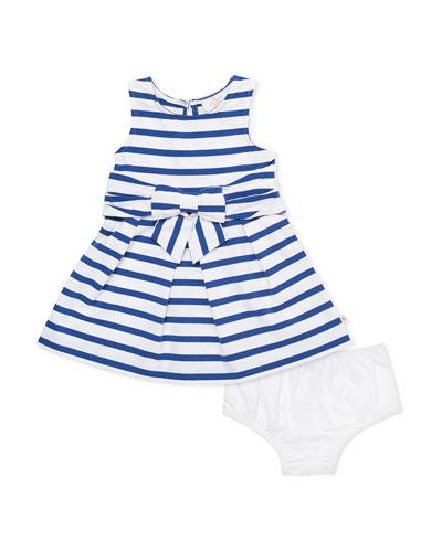 jillian striped sleeveless dress w/ bloomers, size 12-24 months