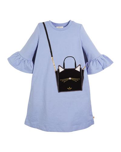 cat bag trompe l'Oeil dress  size 7-14