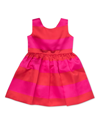 carolyn striped satin sleeveless dress, size 2-6x