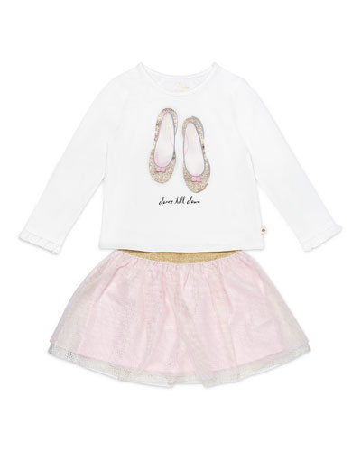 dance till dawn top w/ glitter skirt, size 2-6x
