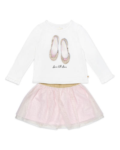 dance till dawn top w/ glitter skirt, size 12-24 months