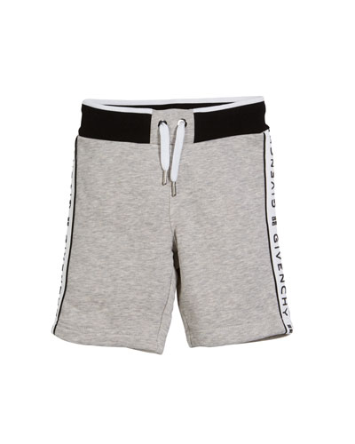 Drawstring Sweat Shorts w/ Logo Taping  Size 12-36 Months