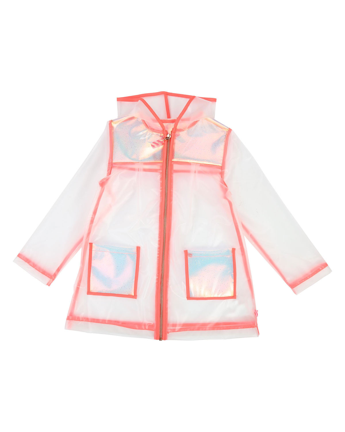 5506e465defdb BillieblushTransparent Hooded Raincoat
