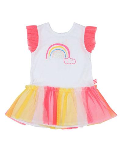 Jersey & Tulle Rainbow Dress  Size 12M-3