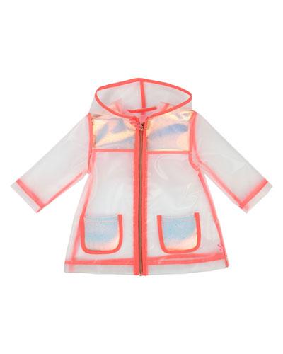 Transparent Hooded Raincoat  Size 12M-3