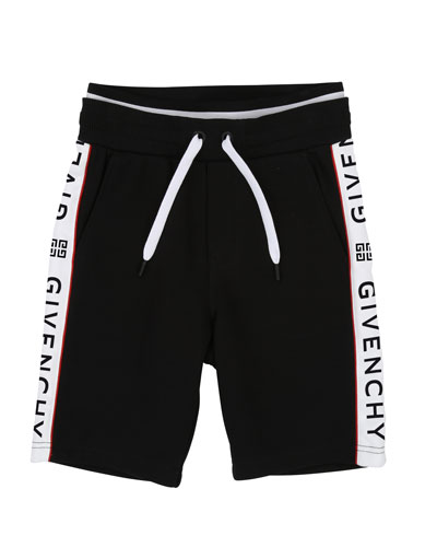 Drawstring Sweat Shorts w/ Logo Taping  Size 12-14