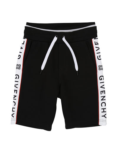 Drawstring Sweat Shorts w/ Logo Taping  Size 4-10