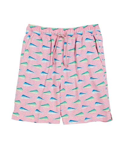 Mahi-Mahi Print Swim Trunks  Size XS-XL