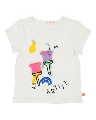 Paintbrush Artist Tee  Size 4-12