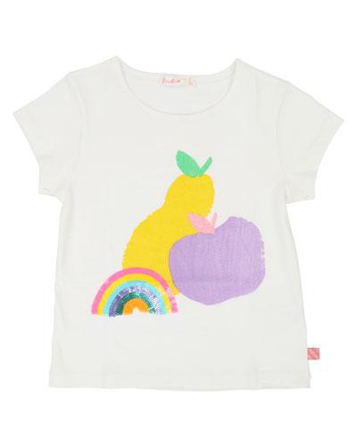 Rainbow & Fruit Short-Sleeve Tee  Size 4-12