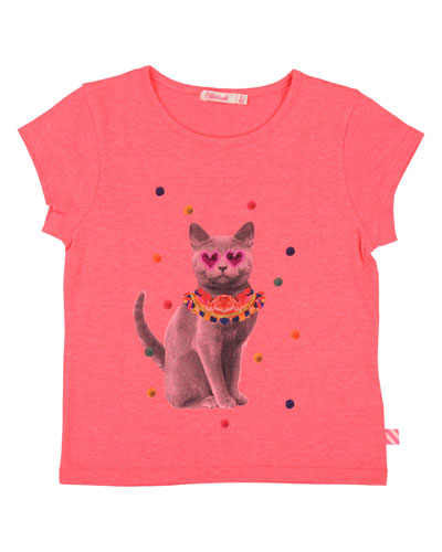 Party Cat Graphic Tee  Size 4-12