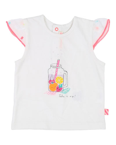 Fruit Drink Graphic Cap-Sleeve Tee  Size 12M-3