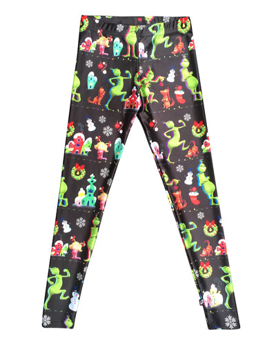 The Grinch Whoville Printed Leggings, Size 7-16