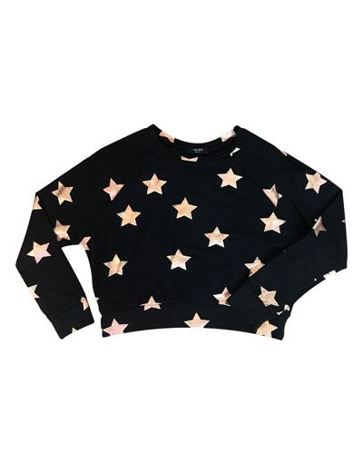 Star Foil Crewneck Top  Size 7-16