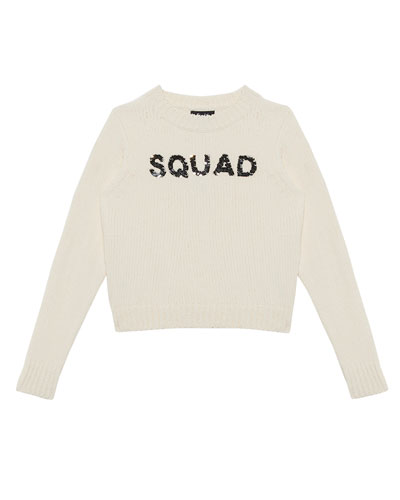Squad Flippy Sequin Knit Sweater, Size 8-16