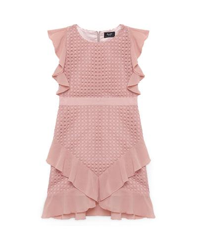 Freyer Lace Ruffle Dress  Size 8-16