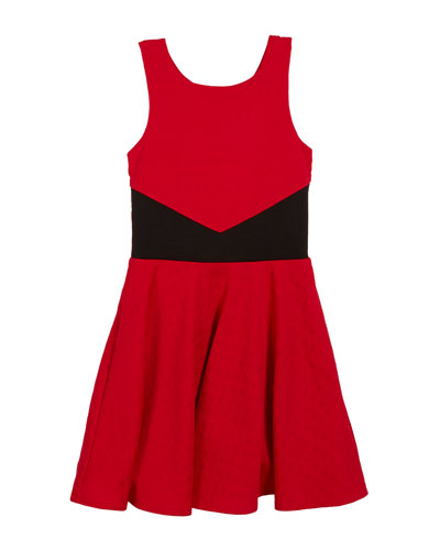 The Scarlet Jacquard Sleeveless Dress, Size S-XL