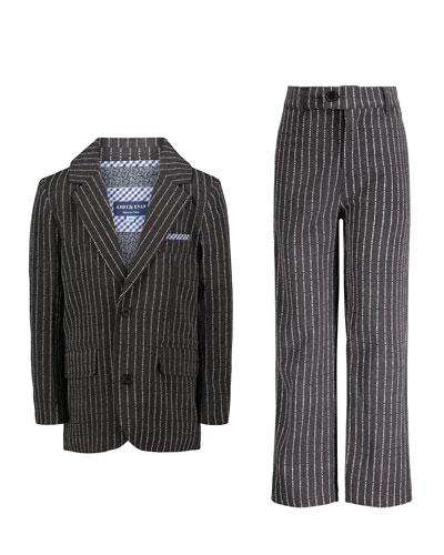 Boys' Dapper Dude Two-Piece Pinstripe Suit  Size 2-7