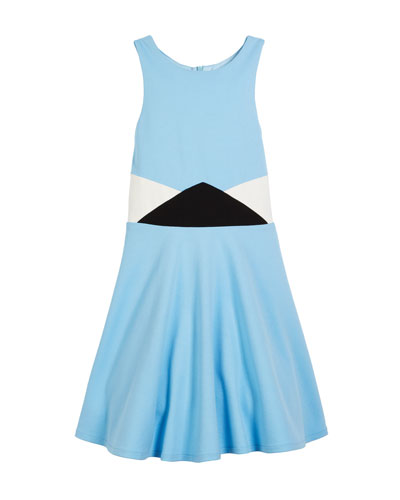 The Sky Halter Flare Dress, Size S-XL