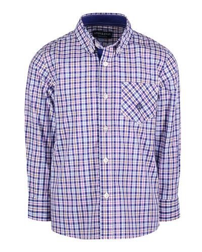Long-Sleeve Plaid Button-Down Shirt  Size 2-7