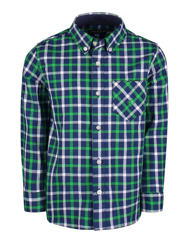 Long-Sleeve Flannel Button-Down Shirt  Size 2-7