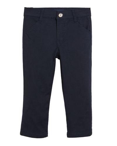 Classic Twill Straight-Leg Pants  Size 2-7