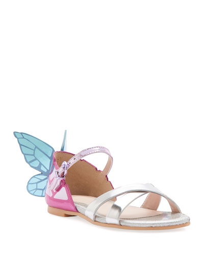 Chiara Mirrored Leather Butterfly Sandals  Toddler/Kids