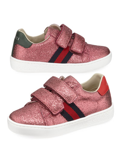 New Ace Web-Trim Glittered Sneakers  Baby/Toddler