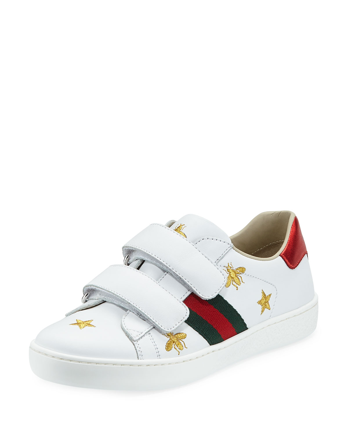 d0634af6c85 Gucci New Ace Bee Embroidery Leather Sneaker