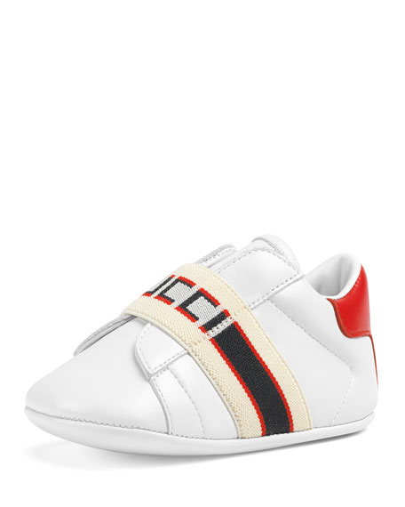 1121741b66e Gucci New Ace Band Leather Sneakers
