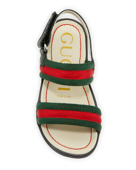 Gucci Sam Web Sandals, Baby/Toddler
