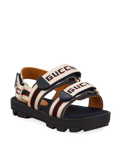 Web Logo Grip-Strap Sandals  Kids