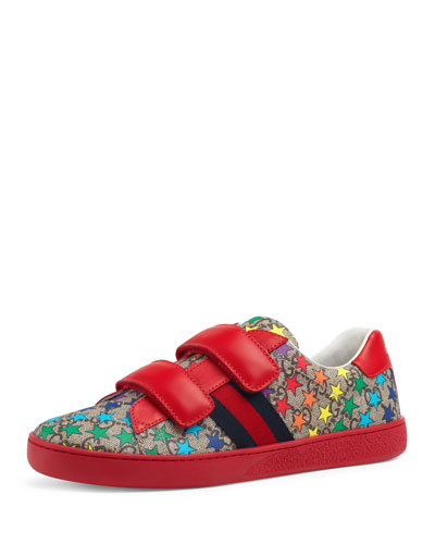 New Ace GG Supreme Rainbow Star-Print Sneakers, Kids