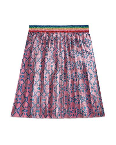 GG Supreme Metallic Pleated Skirt  Size 4-12